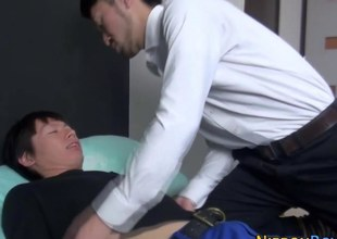 Asian twinks face fucked