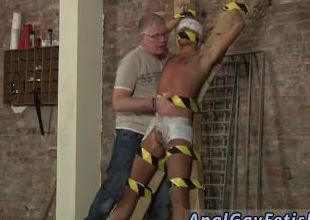 Teen gay bare sex Blindfolded, gagged, tormented and flogged, the dude is