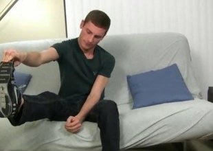 Sexy stud Scott knows we want to admire his irresistible feet