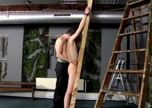Skinny twink tied and whipped mercilessly