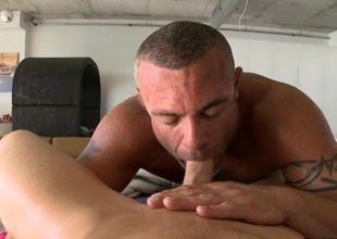 Sensual and X-rated rub-down session for pretty twinks
