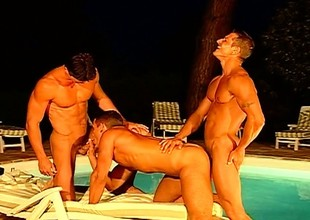 A border of sexy stallions pleasure ever other in the long run b for a long time on a yachting trip