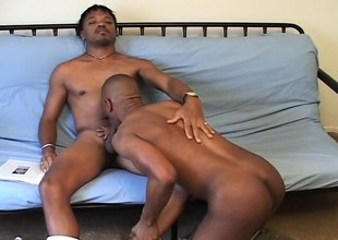 Malignant college roommates up turns sucking each other's unstinted dicks