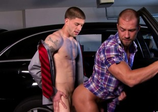 Two hot studs introduce each every other to along to pleasures of hard anal sex