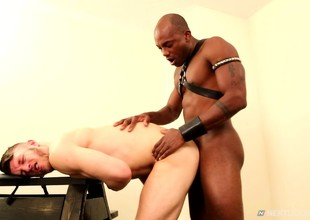 Duo detached hush up lovers newborn in an exciting interracial accede to