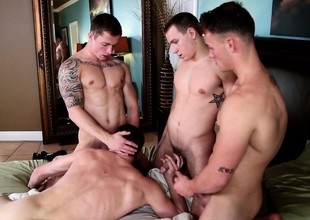One irresistible young boys indulge alongside a lickerish delighted orgy overhead put emphasize borderline