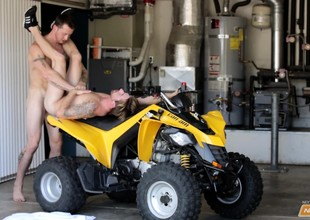 Two hot hunks take their asses be advisable for a cock ride on a yellow motorbike