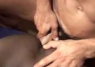 Sagat sucks hot black cock