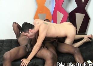 Black guys sharing a jocular happy toff