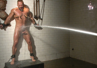Muscled hunk Dirk Caber relentlessly harrowing and his pain in the neck violated