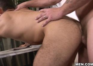 Colby Jansen & Ricky Decker in Straightforward Beggar Gay Porn Scene