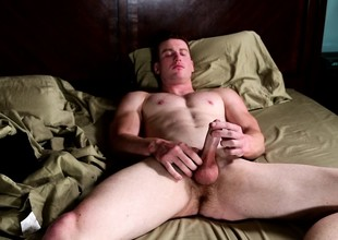 Stryker puts his body on display and feeds his hunger be required of masturbation