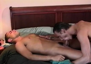 Kinky joyous buddies Chad and Mike exploring their exciting anal desires