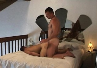 Gorgeous stud Billy has his boyfriend Thomas banging his penny-pinching butt