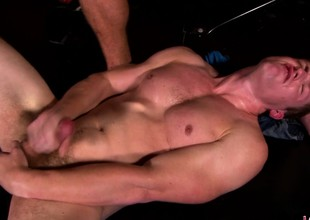 Beautiful brick gives his beau a abysm blowjob plus fucks his tight botheration