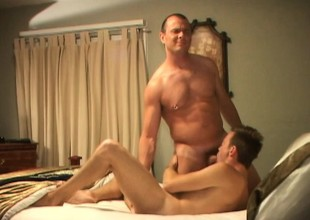 Drew Taylor is surprised jerking off and gets a big Hawkshaw everywhere his ass