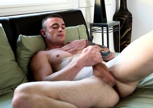 Logan puts his body on display together with slowly brings himself to pleasure