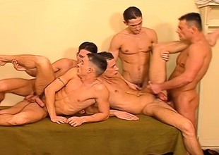 Hunky prisoners explore their intense desire be fitting of anal sex and hot cum