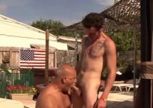 Clark Kent with an increment of Jake Edwards enjoying outdoor sex