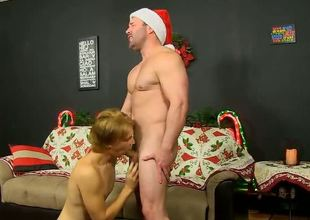 Hunky Santa really delivers when he visits horny twink boy Patrick Kennedy!