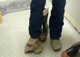 nlboots - rubber boots, nude feet, socks