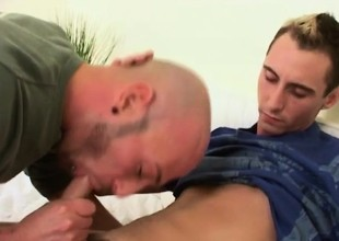 Bald scheduled plank Lee has a pretty old crumpet deeply distress his itchy ass