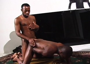 Sexy black stallions with popular dicks feed their desire for anal sex