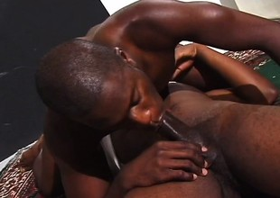 Dispirited black stallions with huge dicks feed their desire be beneficial to anal sex
