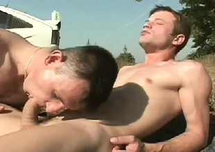 Cute gay boy stuffs his lover's big pole deep inside his fiery butt