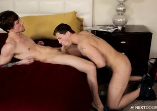 Pretty gay stud engages in anal sex more his brother's straight friend