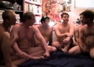 Tom Dingman and Cory Feelmen in a dissolute gay orgy be proper of ass tapping