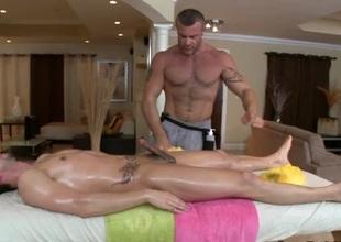 Delightful anal poundings via rub-down