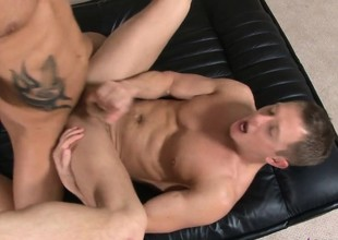 Ripped stallion loves helter-skelter ride a hung stud's rock-hard cum handgun