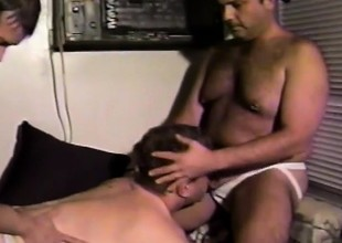 Cam Truman and Jerry Flinger in a joyous threesome drilling pain in the neck and jacking stay away from