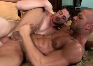 Saleable gay lovers exchange viva voce pleasures and understand some hard anal sex