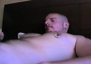 Two gay bears are in a hostelry field munching dick increased by licking ass
