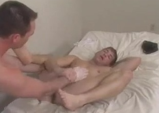 Hot Reinforcer Playing on high Bed