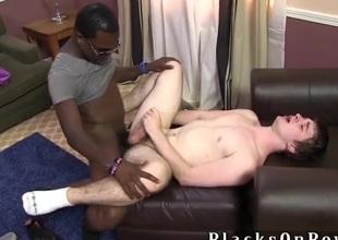 Interracial sex near a milky white schoolboy and BBC