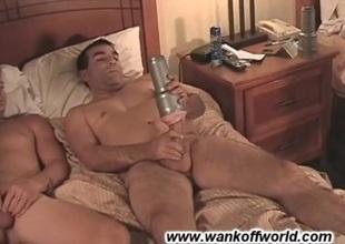 Enlivened sucking between two hot guys