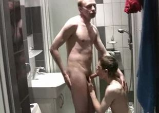 Nigh unto shower fuck session