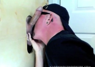 Gloryhole Suck Withdraw Be fitting of Curious Betrothed Man