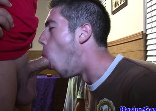 Guileless amateurs humiliated all round cocksucking
