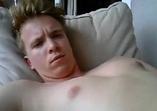 Cute German Boy Cums Essentially His Face  Fingering His Beamy Ass Too