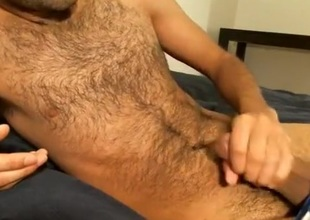 Jerk-off with Cum in Cum Drum