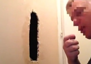 Gloryhole engulf stubby uncut Mexi rub out