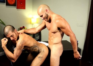 Blindfolded stud reveals his oral talents with the addition of gets his botheration banged hard