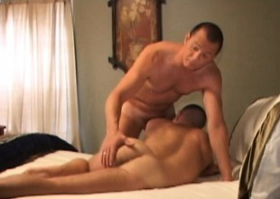 Ty Smith meets surrounding respect to surrounding an older tramp who pounds his ass surrounding passion