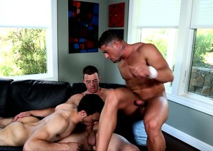 Three hoggish studs set up a careless clash with regard to satisfy their desires