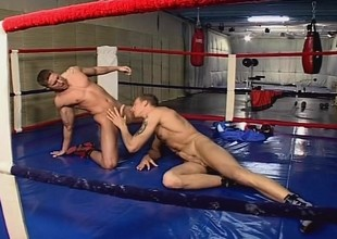 Gay boxers succeed in it more than in hammer away ring and then succeed in down to some ass warm