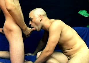 Bald stud Gebo loves less suck a big but and less get drilled in the ass